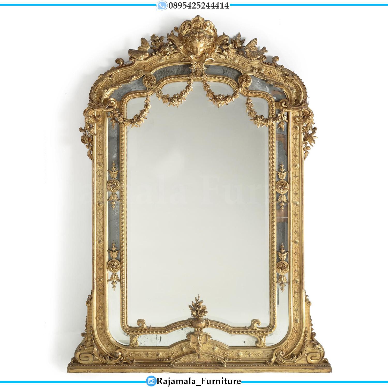 Cermin Hias Mewah Ukiran Classic Luxury Jepara Model Terbaru RM-0049