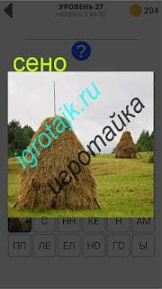 в поле собрано сено и стоит  в стогах ответ на 27 уровень 400 плюс слов 2