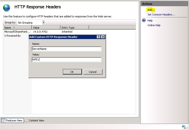 Tracy's Web Design: Set Up an IIS Response Header