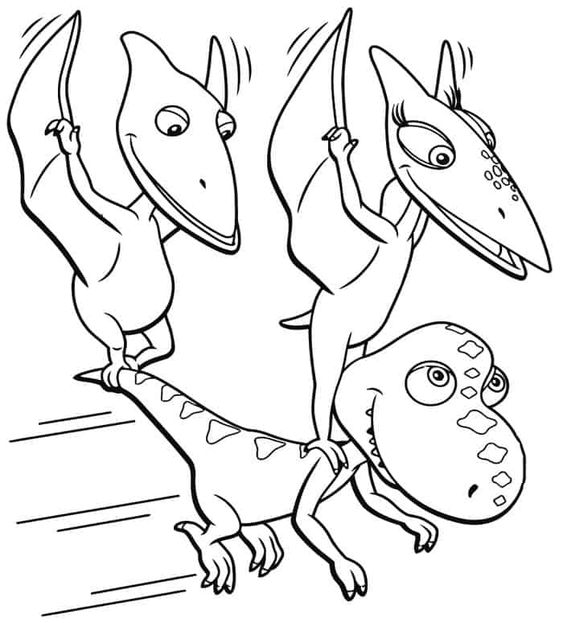 Dinosaurs coloring pages 7