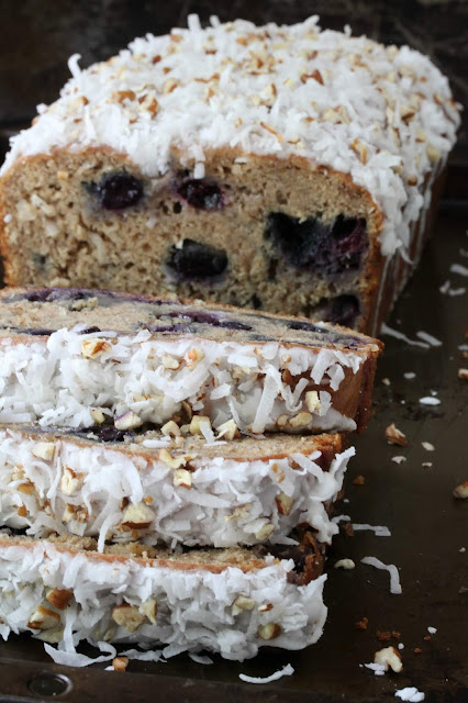 Banana Blueberry Coconut Bread