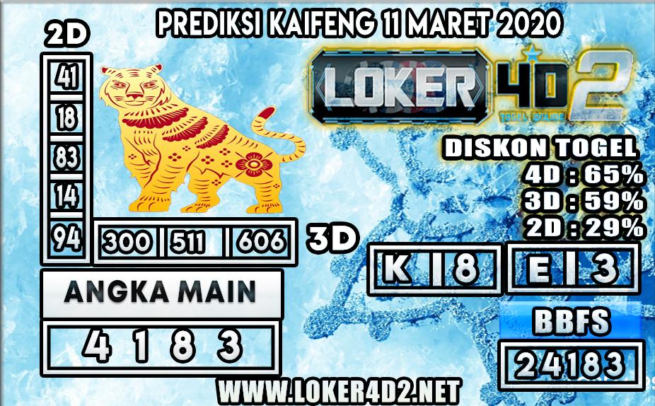 PREDIKSI TOGEL KAIFENG LOKER4D2 11 MARET 2020
