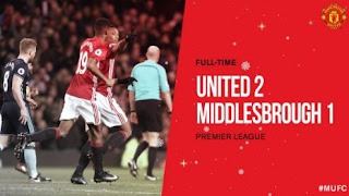 Video Gol Manchester United vs Middlesbrough 2-1