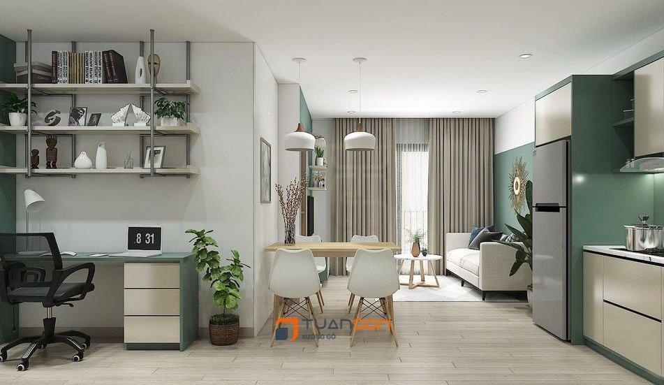 Thiết kế căn hộ 2PN+2WC (62m2) Vinhomes Smart City Tây Mỗ