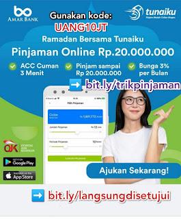 Review Tunaiku Pinjaman Online Dana Tunai Tanpa Jaminan bayar Bulanan gunakan kode UANG10JT