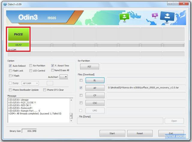 Cara Root Dan Instal TWRP Samsung S4 Korea (SHV-E300K, E300S, E300L) Android Kitkat