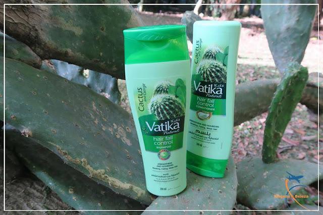 Shampoo e Condicionador Cactus e Gergir Hair Fall Control, da Vatika