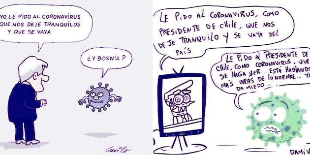 Caricaturas Guillo y Damivago