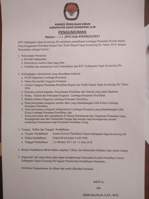 Ini Syarat Untuk Jadi Organisasi Pemantau Pemilu