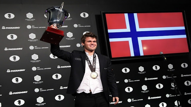 النرويجي،كارلسن،بطل العالم للشطرنج