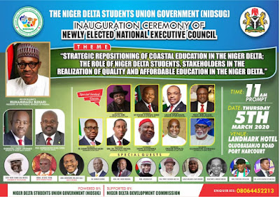 Niger Delta Students Union Government sets to inaugurate her 6th National Executives in Port Harcourt