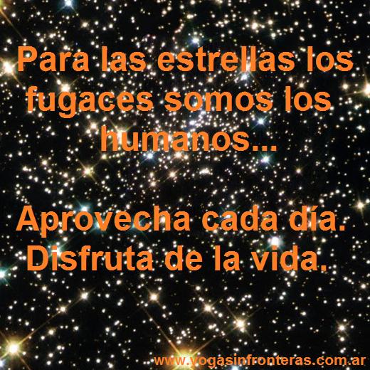 Para las estrellas los fugaces somos los humanos.