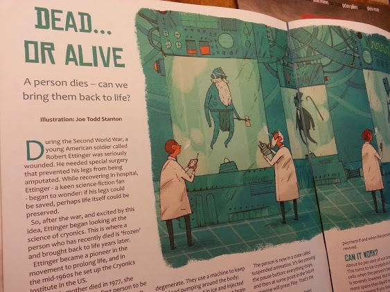Stew magazine for curious kids aged 8-12 inside page zombies