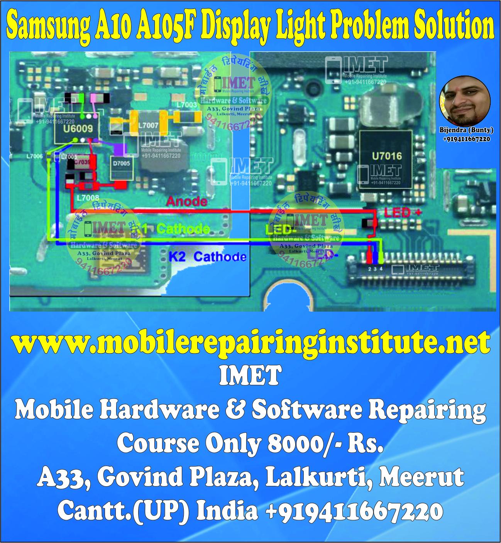 Samsung A10 A105F Display Light Problem Solution Jumper Ways