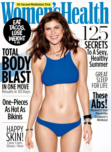 Alexandra Daddario in swimsuit photoshoot for Women's Health magazine cover issue