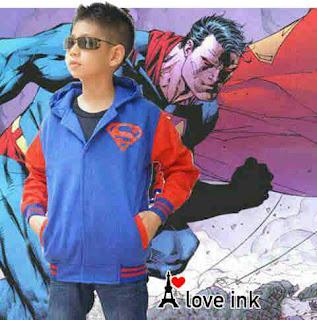 Jaket Anak Superman Biru - Harga Saudara