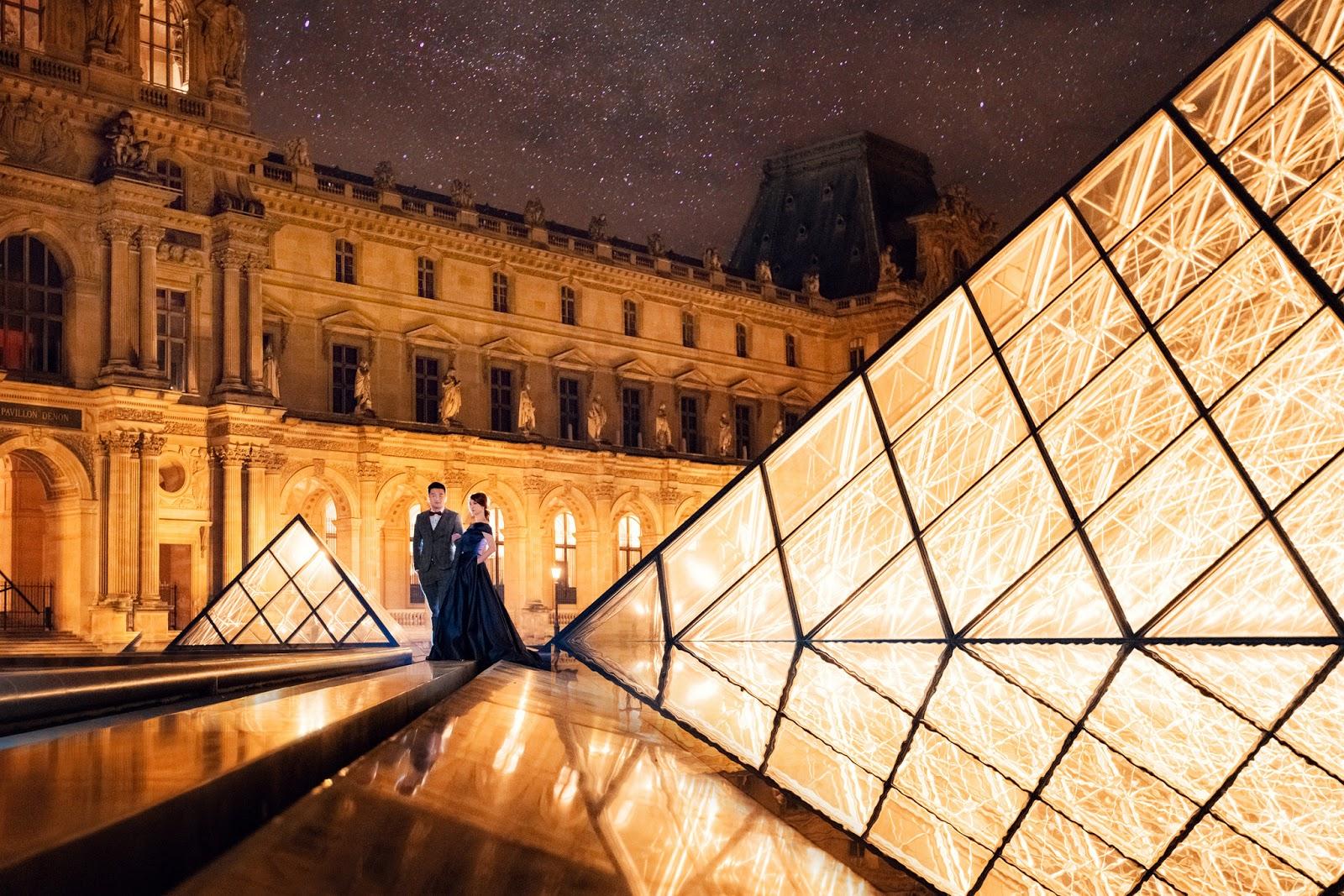 巴黎聖母院 聖心堂 巴黎歌劇院 蒙馬特 海外自助婚紗推薦 私密拍攝景點 羅浮宮 亞力三大三世橋 羅浮宮夜拍 巴黎櫻花婚紗 PARIS PREWEDDING