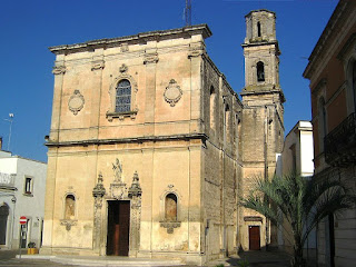 The Chiesa Madre di Calimera, the town in the Grecia Salentina area of Salento. home to Daniele Palma