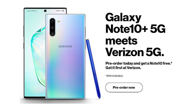 Leaked Galaxy Note10+ 5G image shows inclusion of free Note10 with Verizon pre-orders
