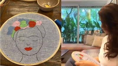 akshay-kumar-wife-twinkle-khanna-doing-embroidery