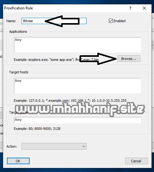 settingan bitvise di proxifier lengkap