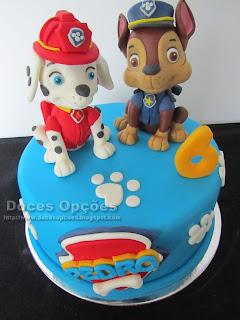 cake supar paste paw patrol