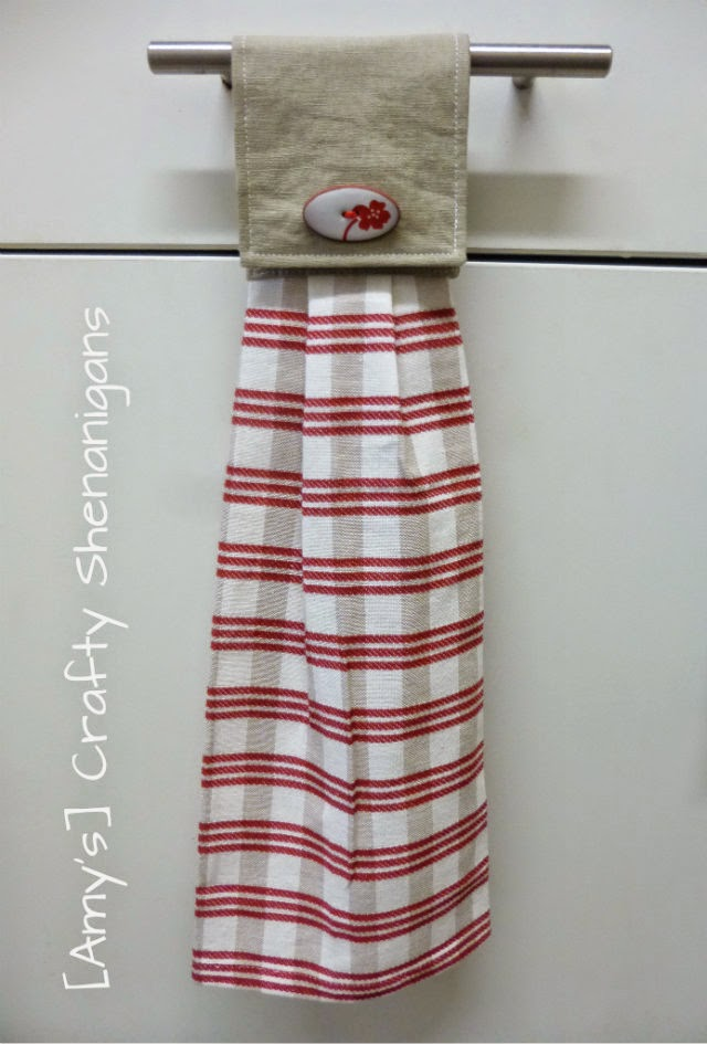 Amy S Crafty Shenanigans Hanging Tea Towel Tutorial