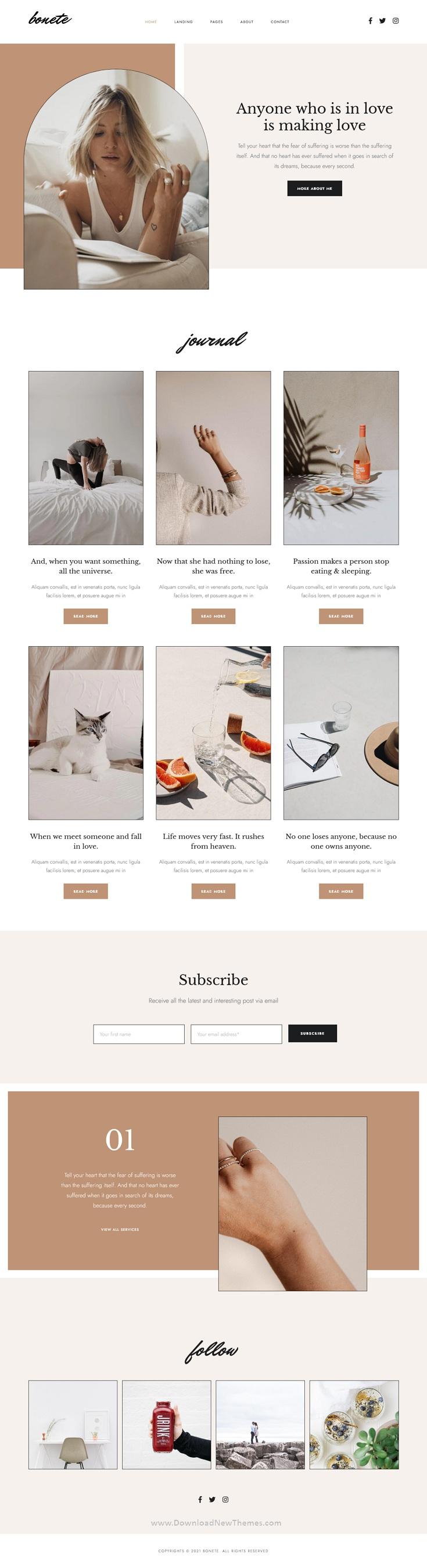 Bonete - Personal Blog HubSpot Theme