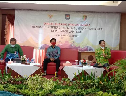 Dialog jejaring pancamandala  Membangun Sinergitas Membumikan Pancasila di Provinsi Lampung