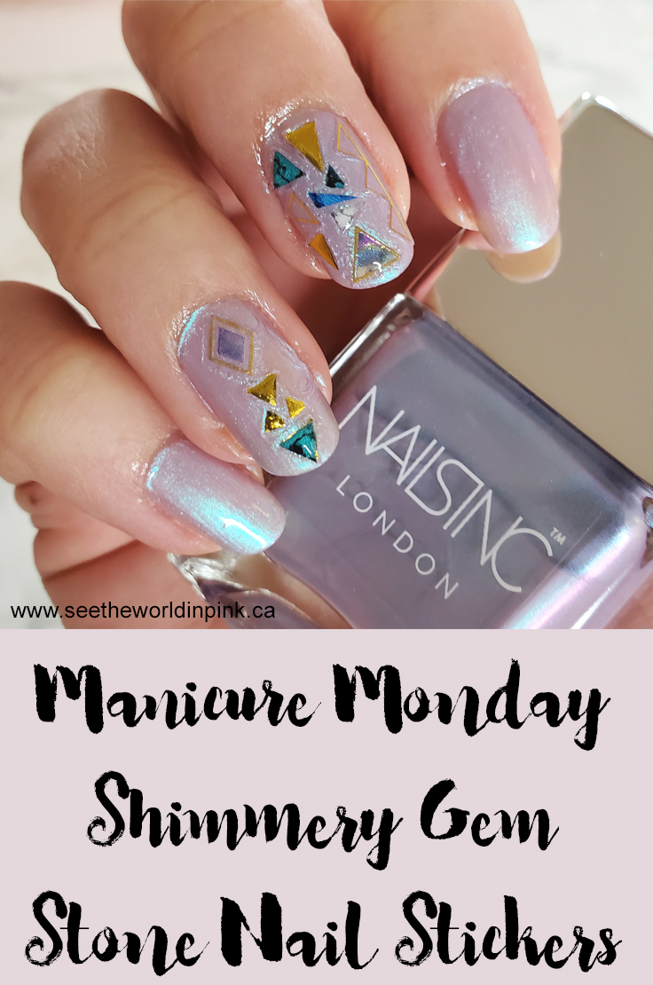 Manicure Monday - Shimmery Gem Stone Nail Stickers