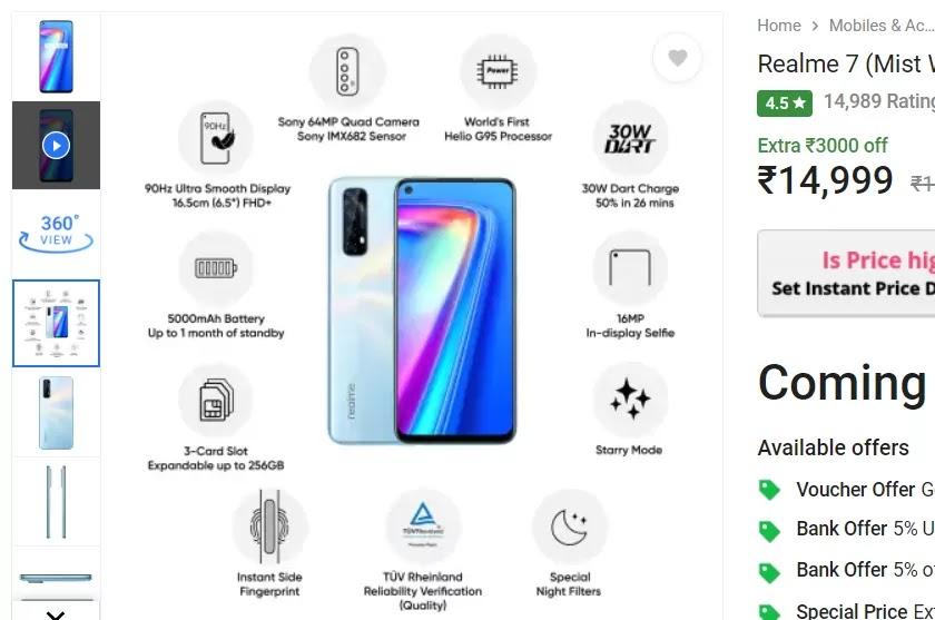 Best Smartphones Under 15000 in india