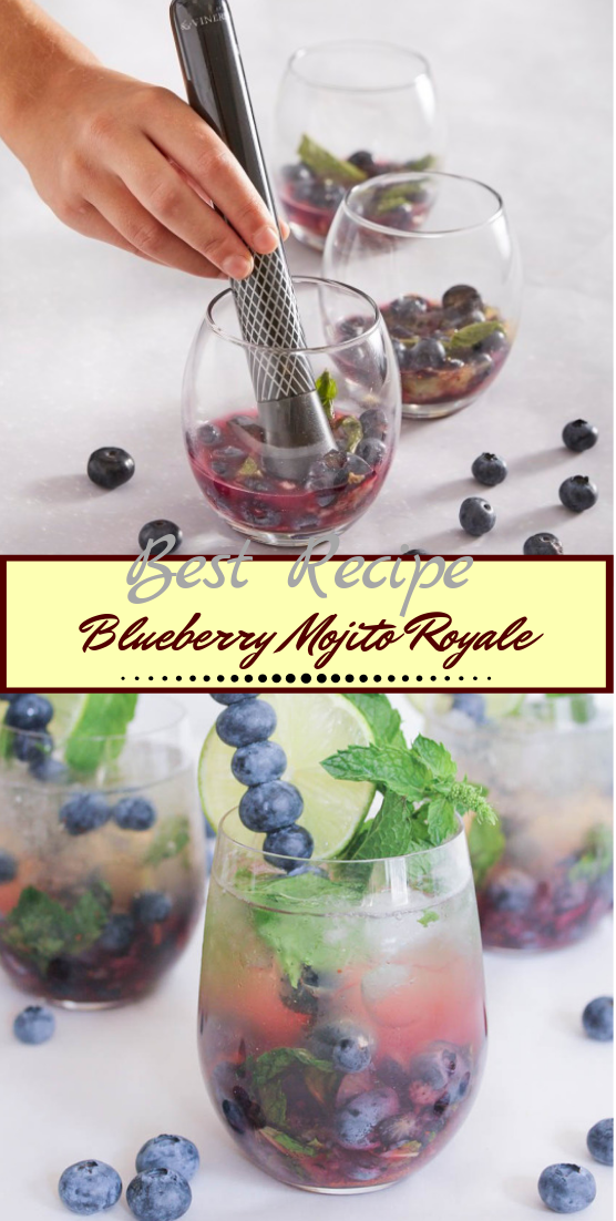 Blueberry Mojito Royale  #healthydrink #easyrecipe #cocktail #smoothie