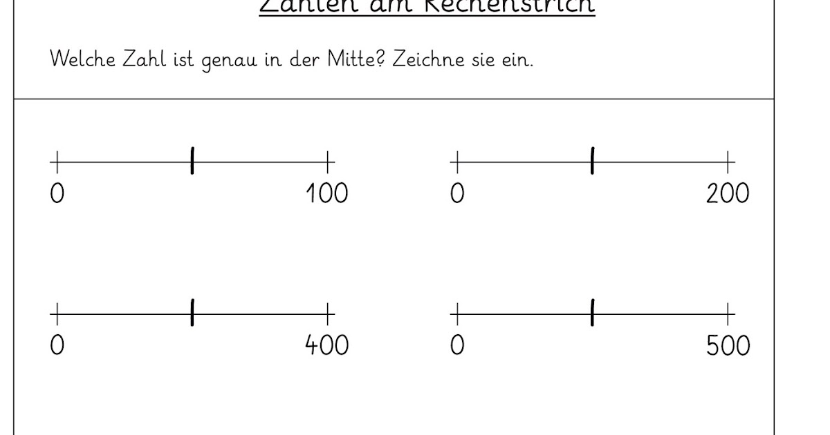 Lernstübchen: Zahlen am Zahlenstrahl - Arbeitsblätter (1)