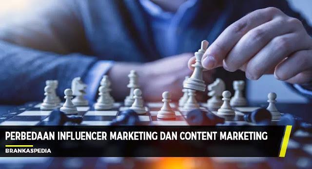 perbedaan influencer marketing dan content marketing