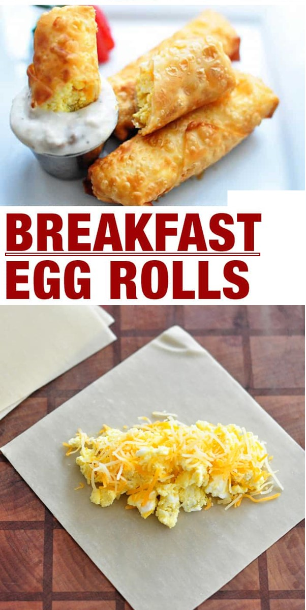Breakfast Egg Rolls with Sausage Gravy #breakfastideas