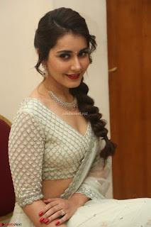 Raashi Khanan looks stunning in Crop Top Deep neck Choli Ghagra Transparent Chunni WOW ~  Exclusive Celebrities Galleries 025.JPG