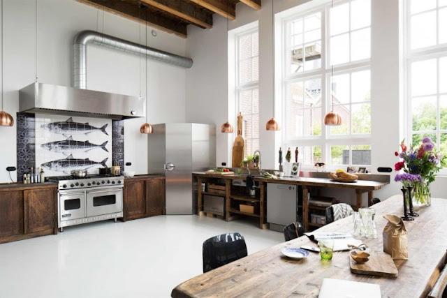 cocina de grandes dimensiones chicanddeco