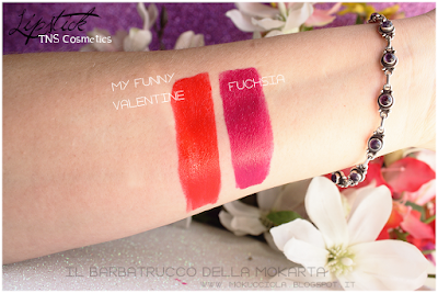 swatches THE LIPSTICK COLLECTION - TNS COSMETICS