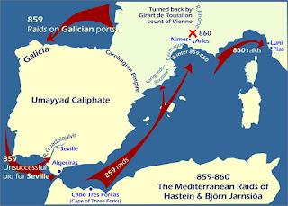 Ataques vikingos en la península ibérica y el Mediterráneo