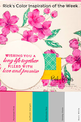 Forever Blossoms Simple Wedding Card Color Inspiration by Rick Adkins Click here to learn more
