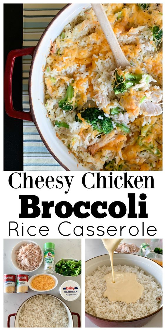 Sharing my Cheesy Chicken Broccoli Rice Casserole today that makes the perfect quick fix weeknight dinner! Packed with creamy rice, chicken and broccoli!