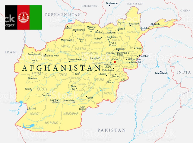 Afghanistan Map with Capital