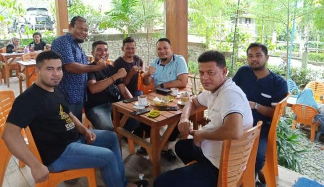 Silaturrahmi Dengan Ketua KNPI Aceh Dona Paru Mintak Restui Calon Ketua KNPI Pijay