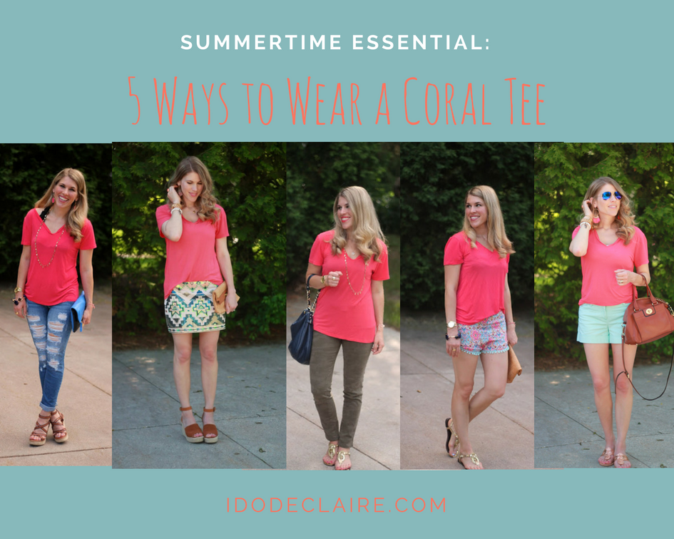 5 Ways to Wear a Coral Tee