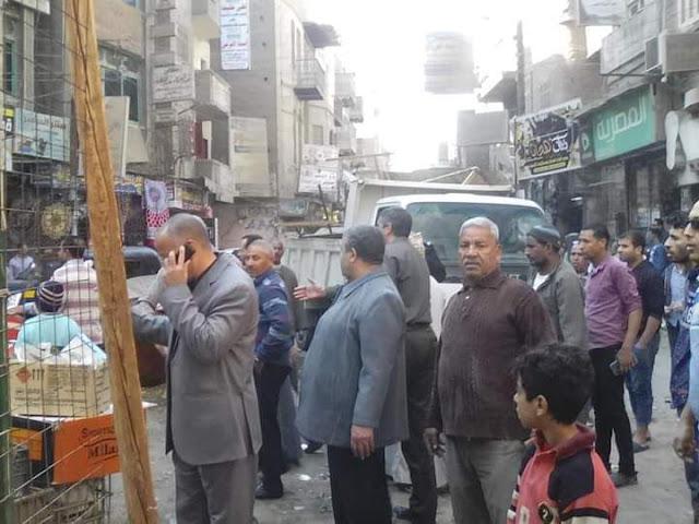 حملة مكبرة لرفع الإشغالات والتعديات على حرم الطريق بشوارع طما فى سوهاج