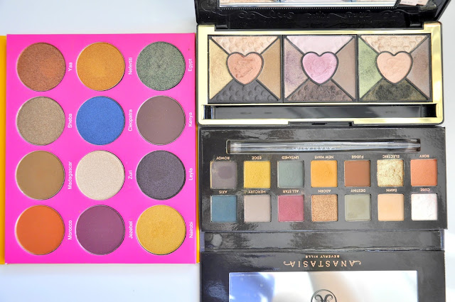 juvia's place nubian 2, too faced love, anastasia beverly hills subculture