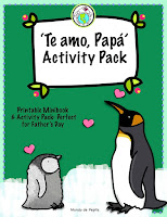 Te amo Papá Father's Day Theme Pack in Spanish for Kids