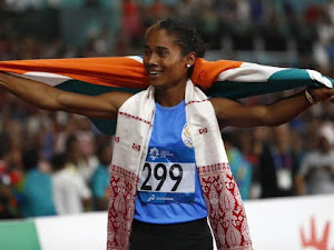 'Golden girl' Hima Das secures her fifth gold in a month
