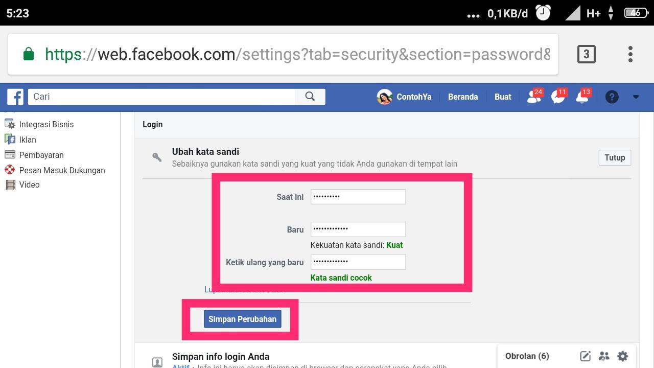 Cara mengganti kata sandi Facebook yang lupa tanpa nomor HP