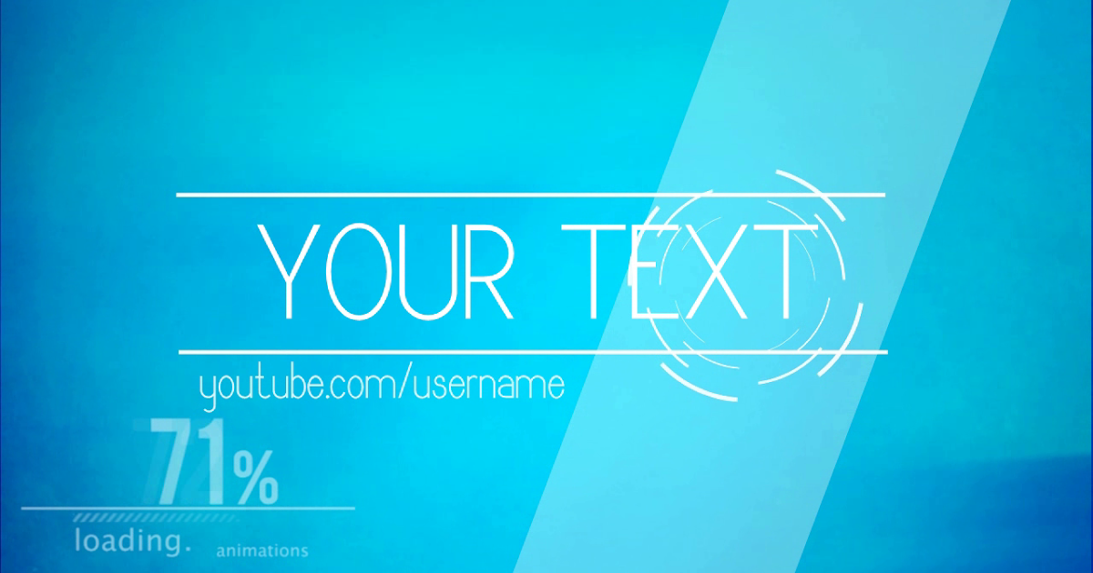 simple blue 2d youtube svp intro template intro template 2